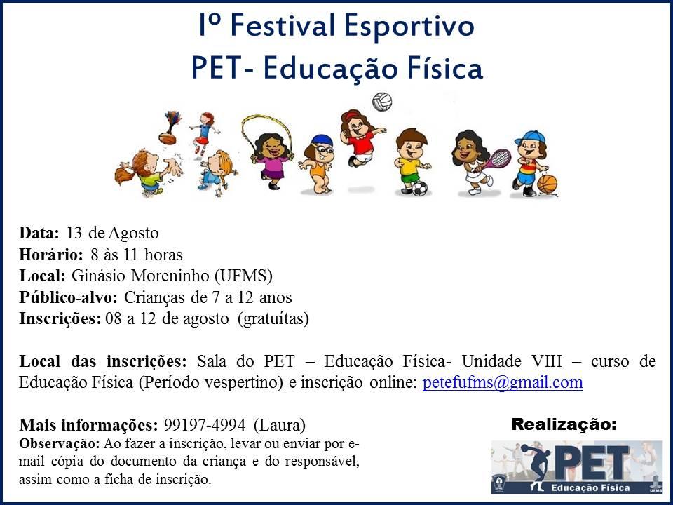 PET-Educação Física realiza 1º Festival Esportivo - UFMS 9ace4e3a6b425