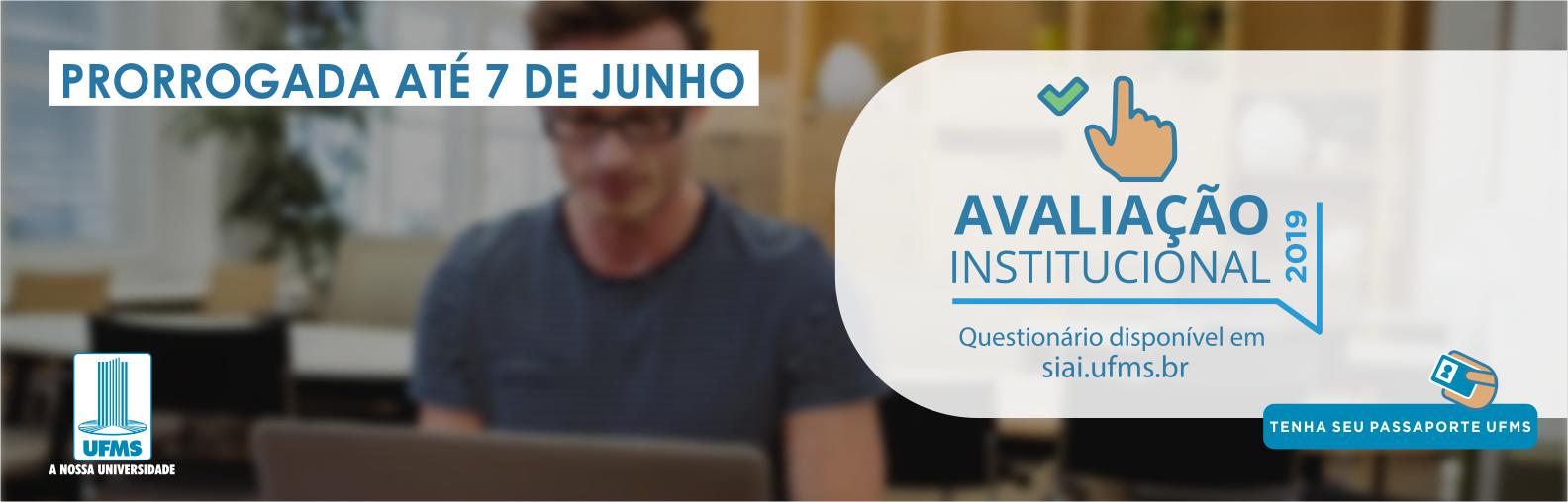 Avaliação Institucional prorrogada até 7 de junho pelo site siai.ufms.br