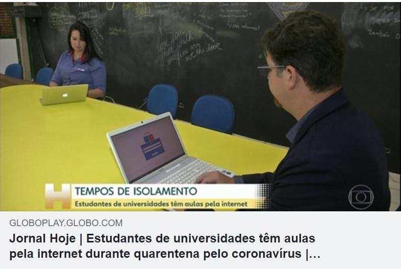 Jornal Hoje de 20 de março.